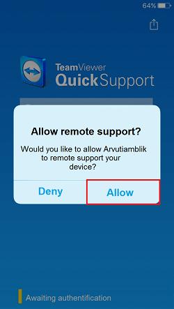TeamViewer QuickSupport iOS