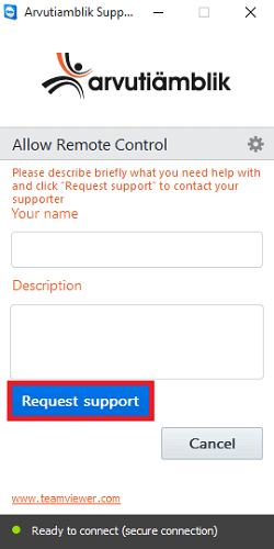 Remote Support Module Arvutiämblik